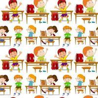 Naadloze studenten in de klas vector