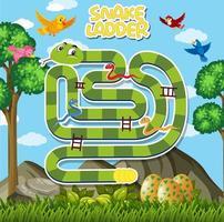 Een slangensjabloon