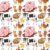 Dieren op naadloze achtergrond vector