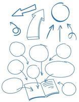 Een set van doodle symbool