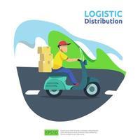 logistieke distributie vracht dienstverleningsconcept vector
