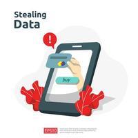 internet veiligheidsconcept voor weblandingspagina