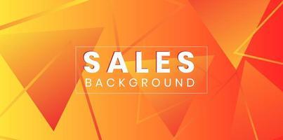Driehoek gevormd verkoop abstract ontwerp als achtergrond vector