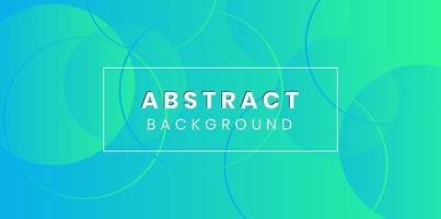 Blauwgroen verloop en cirkels abstracte achtergrond vector