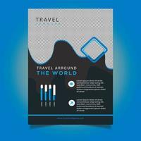 Zakelijke sjabloon folder met golvend ontwerp