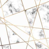 Marmeren textuurontwerp met gouden lijnen vector