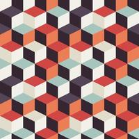 Geometrisch naadloos patroon met retro vierkanten