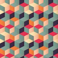 Geometrisch naadloos patroon met kleurrijke vierkanten