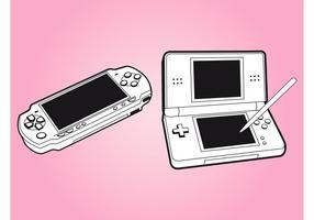 Gaming consoles vector