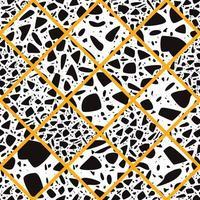Terrazzo naadloos patroon met hand getrokken rotsen vector
