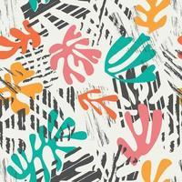 Matisse geïnspireerd vormen naadloos kleurrijk ontwerp vector