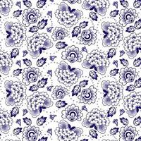 Chinees indigo bloemen naadloos patroon