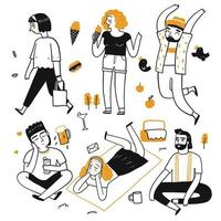 Het tekenkarakter van mensen