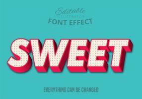 Zoete tekst, bewerkbare tekststijl vector