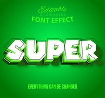 Super omlijnde gelaagde tekst, bewerkbaar teksteffect