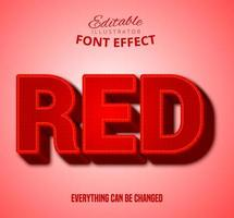 Rode rasterpatroontekst, bewerkbare tekststijl