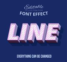 Lijn diagonale ontwerptekst, bewerkbare tekststijl vector