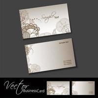 Sjabloon voor bruin Henna Design-visitekaartjes