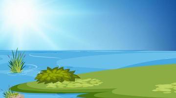 Een eenvoudige scène van het meer vector