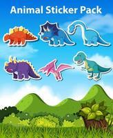 Set dinosaur karakter