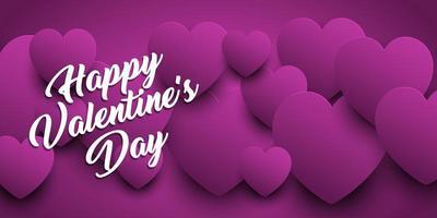 Valentijnsdag banner met hart ontwerp