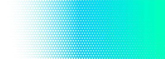 Groene en blauwe gradiënt gestippelde banner