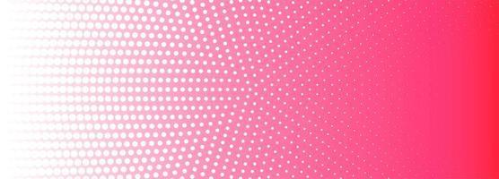 Roze en witte cirkelvormige halftone patroonbanner