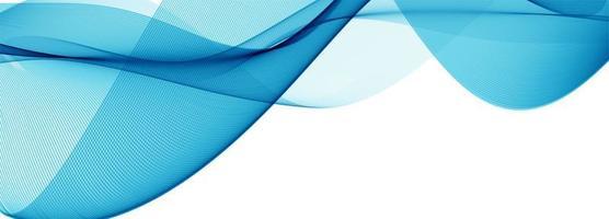 Moderne stromende blauwe golfbanner op witte achtergrond vector