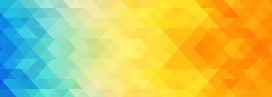 Abstracte kleurrijke geometrische banner sjabloon achtergrond vector