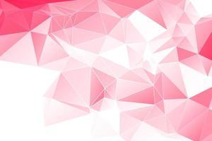 Roze geometrische witte omtrek Veelhoekige achtergrond vector