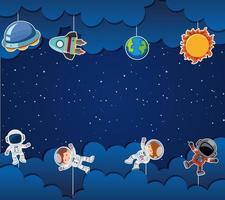 Astronaut op ruimte sjabloon