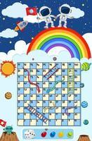Een slangladder spel ruimtethema