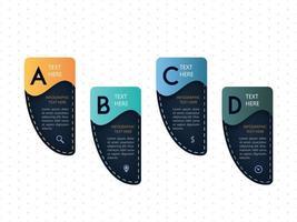 Infographic processtappen sjabloonontwerp