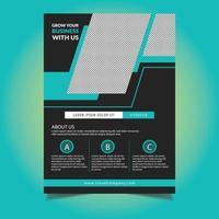 Blue Angle Design Zakelijke sjabloon folder vector