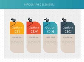 Infographic vier optiesjabloonontwerp