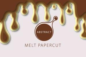Abstracte Achtergrond Chocoladesmelt vector