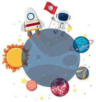 Een astronaut in de ruimte vector