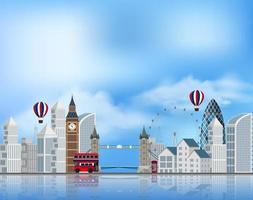 Een toeristische attractie in Londen vector