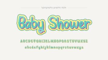 Licht groen kalligrafie lettertype vector