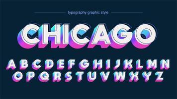 Neon kleurrijke vetgedrukte 3D hoofdlettertype vector