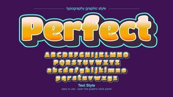 Geel vet artistiek lettertype vector