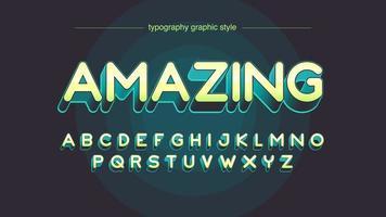Gele afgeronde typografie