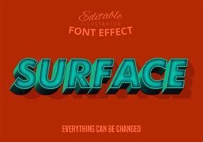Modern 3d teksteffect, bewerkbaar lettertype vector