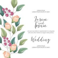 bloem bruiloft kaart