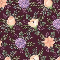 bloempatroon bruiloft kaart vector