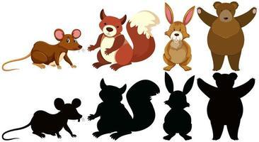 Set dierlijke karakters vector