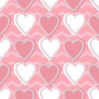 naadloze valentijn patroon achtergrond vector