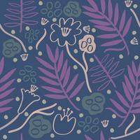 naadloze kleurrijke hand getekend bloemmotief achtergrond vector