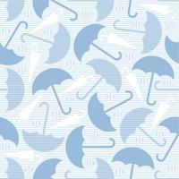 naadloze paraplu met zilveren stip glitter patroon op blauwe achtergrond vector