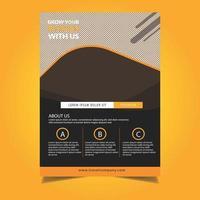 Reizen folder sjabloon met details en afgeronde ontwerp vector